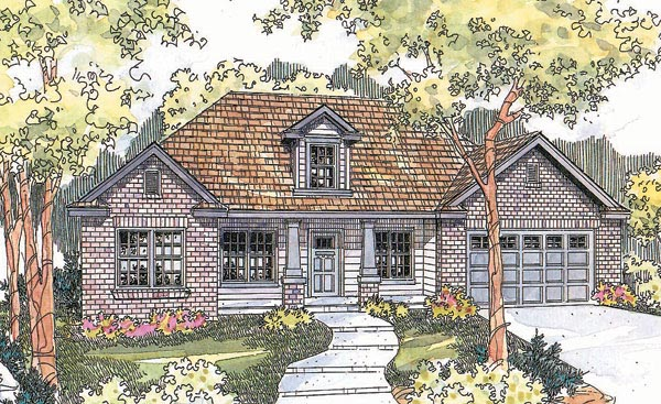 Craftsman House Plan 69690 with 3 Beds, 2 Baths, 2 Car Garage Elevation