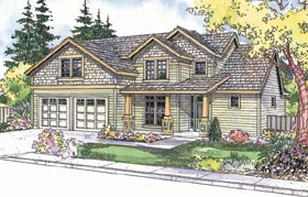 House Plan 69693 | Craftsman Style Plan with 2210 Sq Ft, 3 Bedrooms, 2.5 Bathrooms, 2 Car Garage Elevation