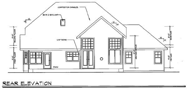 Craftsman House Plan 69696 Rear Elevation