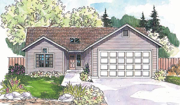 Ranch House Plan 69697 Elevation