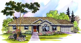 House Plan 69700 | Traditional Style Plan with 2086 Sq Ft, 4 Bedrooms, 2 Bathrooms, 2 Car Garage Elevation