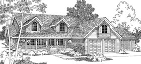 Country House Plan 69702 Elevation