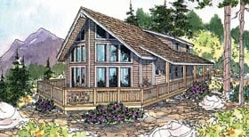 Contemporary House Plan 69703 Elevation