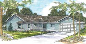 Ranch House Plan 69704 Elevation