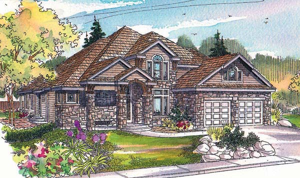 Craftsman House Plan 69707 with 3 Beds, 2.5 Baths, 2 Car Garage Elevation