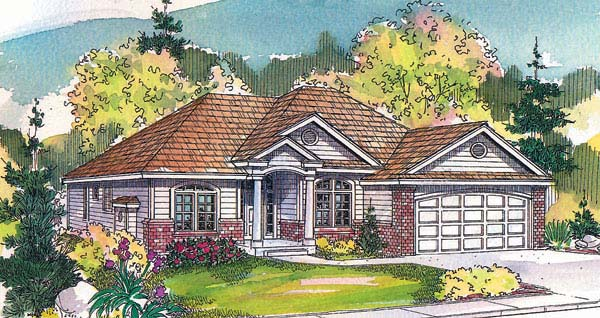Traditional House Plan 69708 Elevation