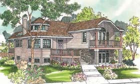 House Plan 69710 | Contemporary Style Plan with 1940 Sq Ft, 2 Bedrooms, 3 Bathrooms Elevation