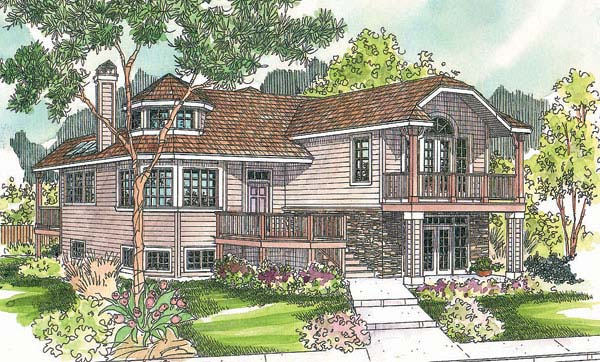 Contemporary House Plan 69710 Elevation