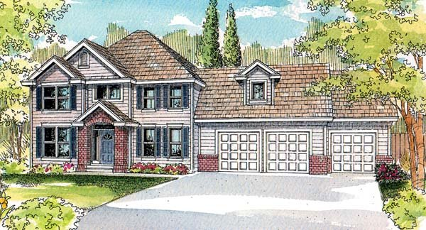 Colonial Traditional House Plan 69711 Elevation