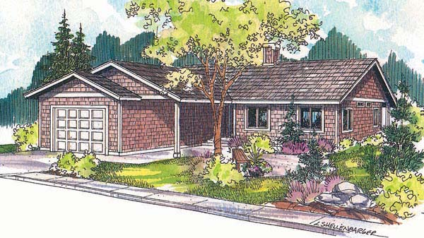 Ranch House Plan 69714 Elevation