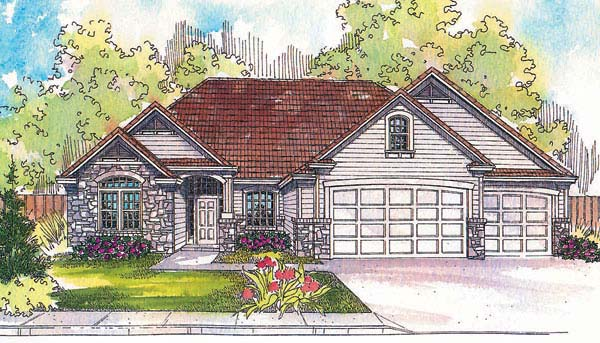 Traditional House Plan 69715 Elevation