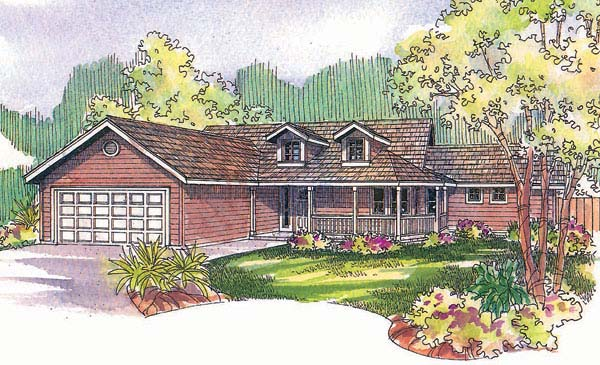 Ranch House Plan 69716 Elevation