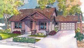 Bungalow House Plan 69717 Elevation