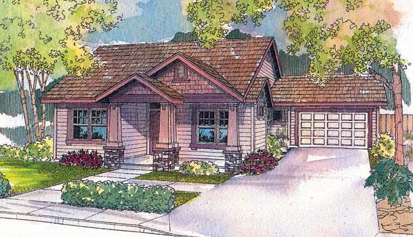 Bungalow House Plan 69717 Elevation