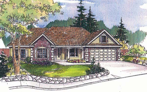 Ranch House Plan 69718 Elevation
