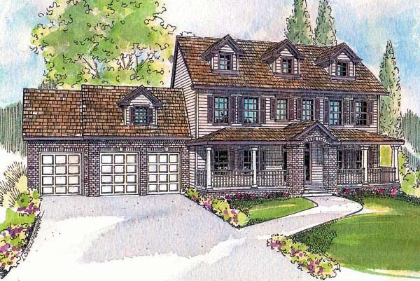Colonial Country House Plan 69719 Elevation