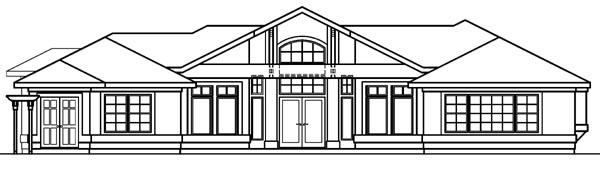 Mediterranean House Plan 69722 Rear Elevation