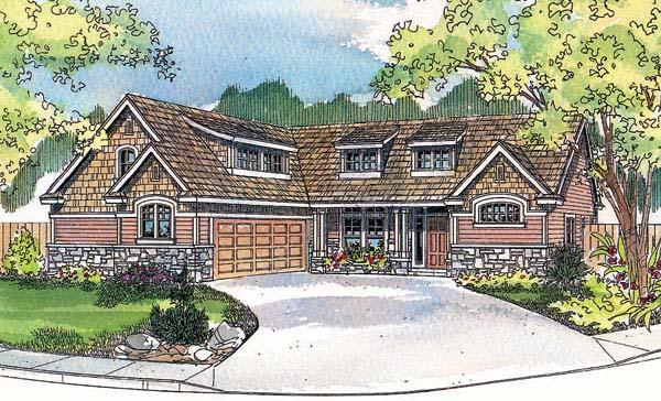 Craftsman House Plan 69725 Elevation