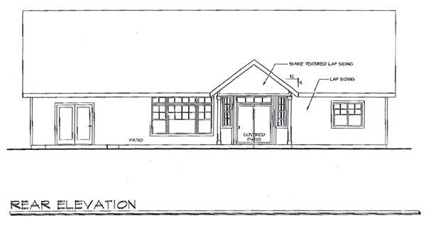 Craftsman House Plan 69725 Rear Elevation