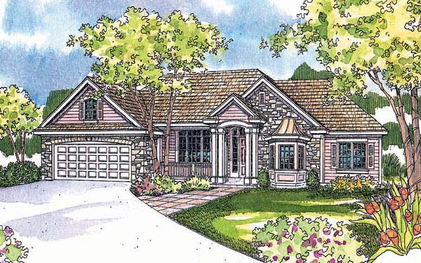 Traditional House Plan 69727 Elevation