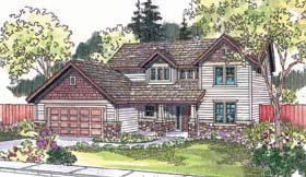 Country House Plan 69729 with 4 Beds, 2.5 Baths, 2 Car Garage Elevation