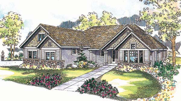 Ranch Traditional House Plan 69730 Elevation