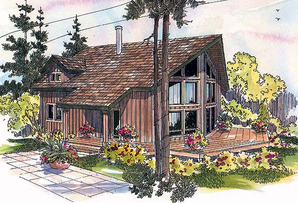 Contemporary House Plan 69731 Elevation