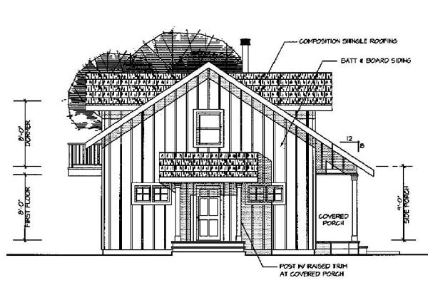 Contemporary House Plan 69731 Rear Elevation
