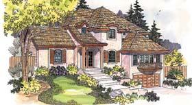 European House Plan 69733 Elevation