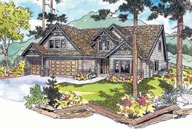 Craftsman House Plan 69734 with 4 Beds, 3.5 Baths, 3 Car Garage Elevation