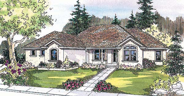 Florida House Plan 69735 with 5 Beds, 3 Baths, 3 Car Garage Elevation