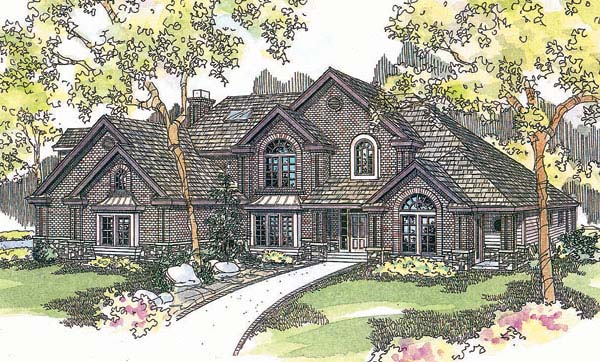 European House Plan 69737 Elevation