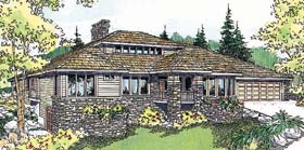 Contemporary House Plan 69745 Elevation