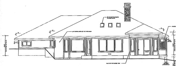 Contemporary House Plan 69745 Rear Elevation