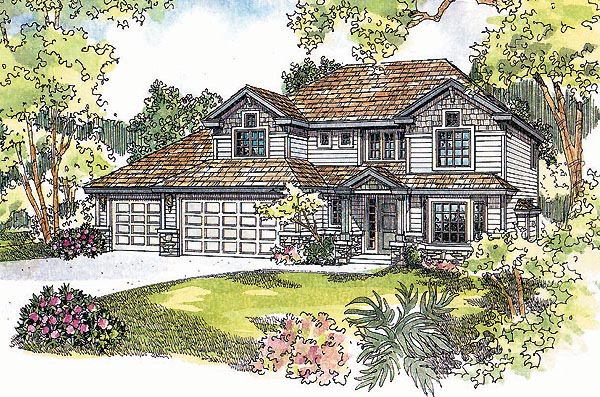 Farmhouse Traditional House Plan 69748 Elevation