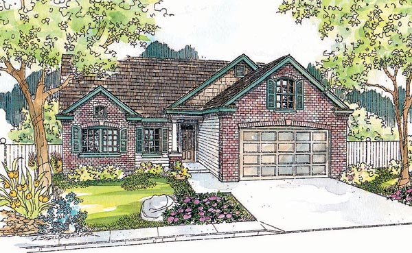 Ranch House Plan 69749 Elevation