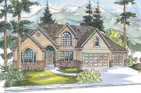 House Plan 69752 | Traditional Style Plan with 3076 Sq Ft, 3 Bedrooms, 2.5 Bathrooms, 3 Car Garage Elevation