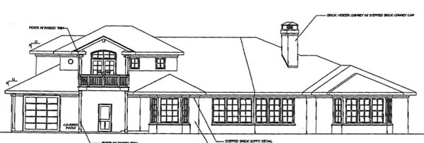 Traditional House Plan 69753 Rear Elevation