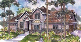 House Plan 69754 | Traditional Style House Plan with 2471 Sq Ft, 4 Bed, 2 Bath Elevation