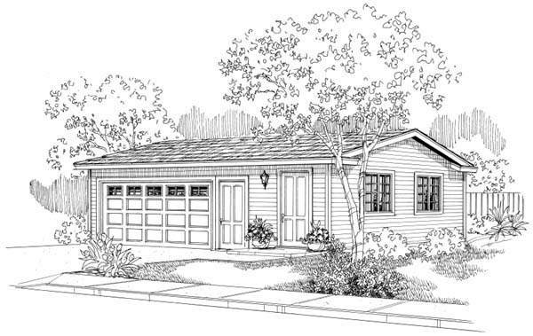 Traditional 2 Car Garage Plan 69757 Elevation