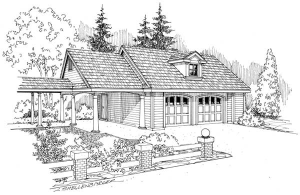 Traditional 3 Car Garage Plan 69758 Elevation