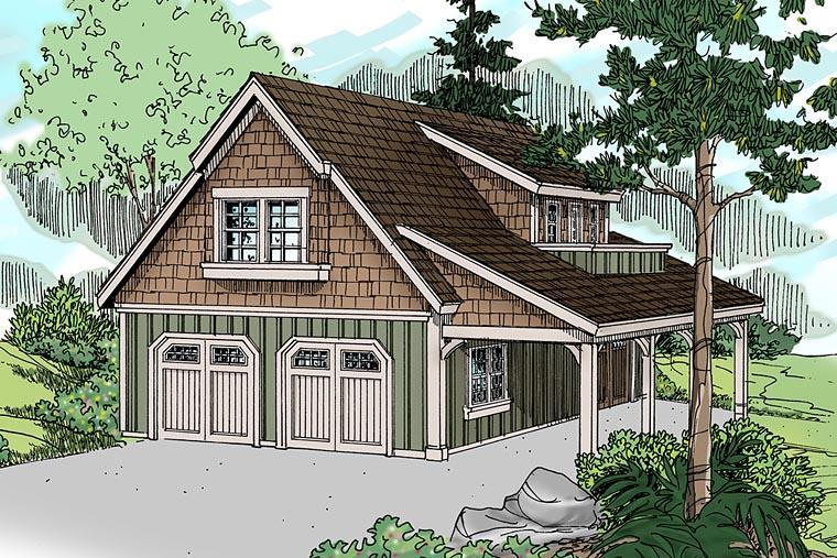 Traditional Garage Plan 69762 Elevation