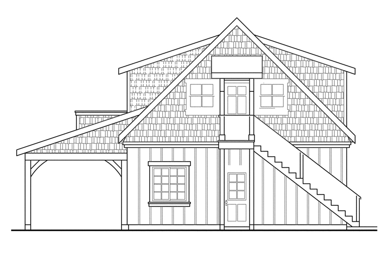 Traditional Garage Plan 69762 Rear Elevation
