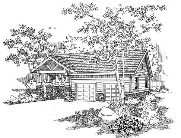 Traditional Garage Plan 69763 Elevation