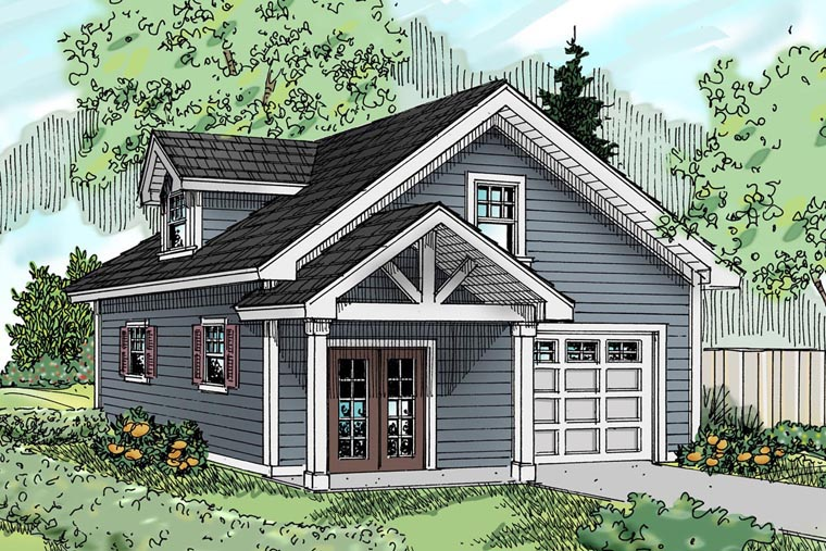 Traditional 1 Car Garage Apartment Plan 69765 Elevation