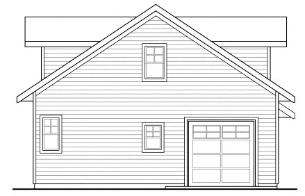 Traditional Rear Elevation of Plan 69765