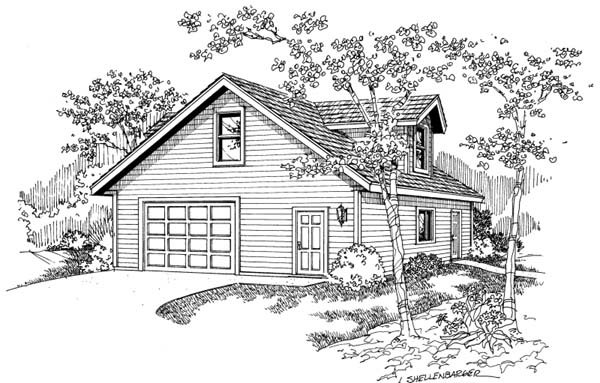 Traditional 1 Car Garage Apartment Plan 69766 Elevation