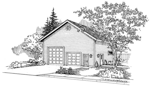 Traditional Garage Plan 69767 Elevation