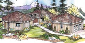 Contemporary Ranch House Plan 69770 Elevation
