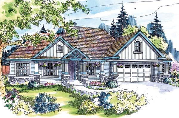 Contemporary European Ranch House Plan 69771 Elevation